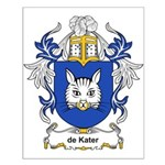 de Kater Coat of Arms Small Poster