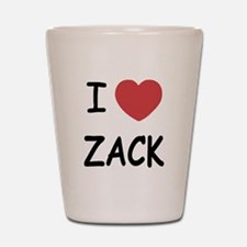 I heart zack Shot Glass