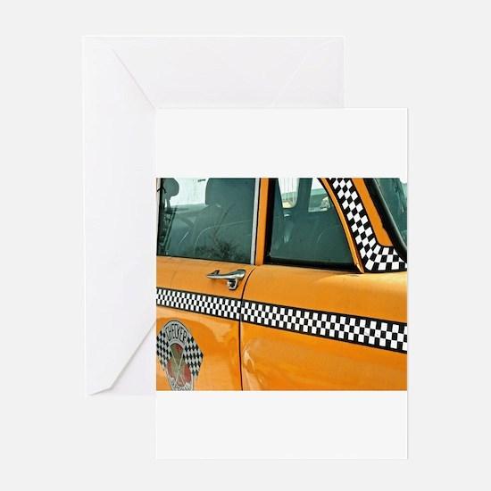 Checker Cab No. 3 Greeting Card
