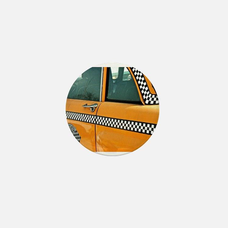 Checker Cab No. 3 Mini Button