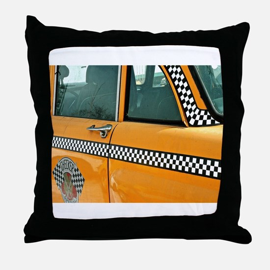 Checker Cab No. 3 Throw Pillow