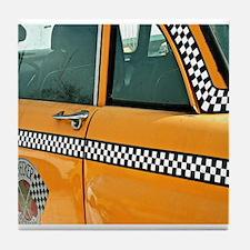 Checker Cab No. 3 Tile Coaster