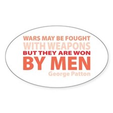 Won By Men Oval Decal