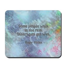 Rain Quote Mousepad