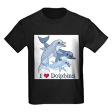 Dolphins-Square-heart T-Shirt