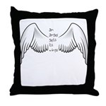 Angel Gets Wings Throw Pillow