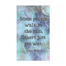 Rain Quote Decal