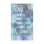 Rain Quote Sticker (Rectangle)