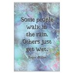Rain Quote Large Poster