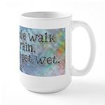 Rain Quote Large Mug