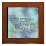 Rain Quote Framed Tile