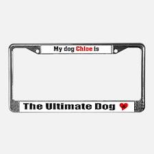 My Dog Chloe License Plate Frame