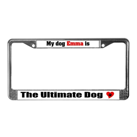 My Dog Emma License Plate Frame