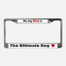 My Dog Riley License Plate Frame