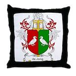 de Jong Coat of Arms Throw Pillow