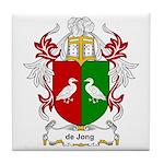de Jong Coat of Arms Tile Coaster