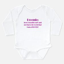Unique Born early Long Sleeve Infant Bodysuit