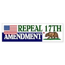 Bumper Sticker, US CA, Repeal 17th