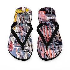 Chinatown: New York City Flip Flops
