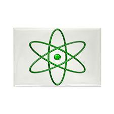 """""""Orbit, Green"""" Rectangle Magnet (10 pack)"""