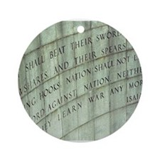 Isiah (No More War Ornament (Round)