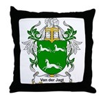 Van der Jagt Coat of Arms Throw Pillow