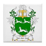 Van der Jagt Coat of Arms Tile Coaster