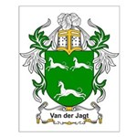Van der Jagt Coat of Arms Small Poster