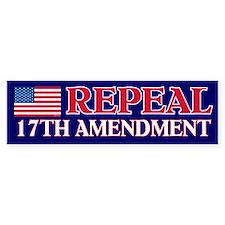 Bumper Sticker, US, Repeal 17th