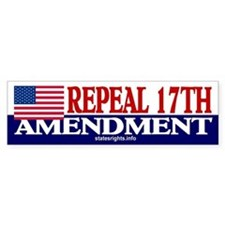 Bumper Sticker, US, Repeal 17th, Bl/Wh