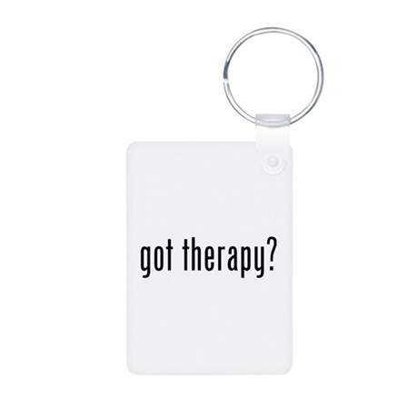 Got therapy? Aluminum Photo Keychain