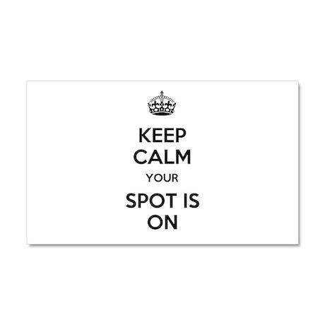 Keep Calm Spot is On Car Magnet 20 x 12