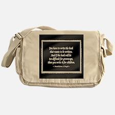 Madeleine L'Engle Messenger Bag