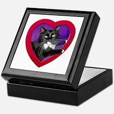 Cat in Heart Keepsake Box