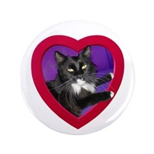 "Cat in Heart 3.5"" Button"