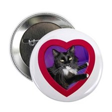 """Cat in Heart 2.25"""" Button"""