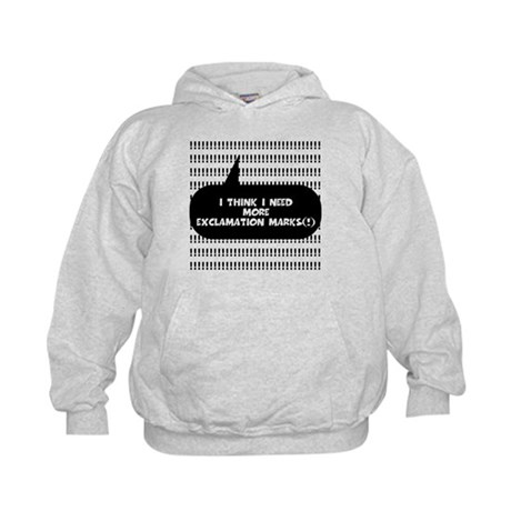 More Exclamation Marks Kids Hoodie