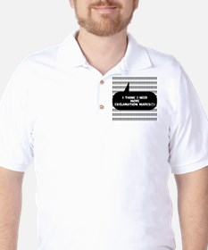 More Exclamation Marks Golf Shirt