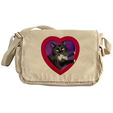 Cat in Heart Messenger Bag