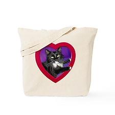 Cat in Heart Tote Bag