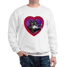 Cat in Heart Sweatshirt