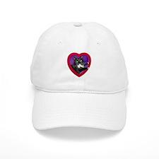 Cat in Heart Baseball Cap