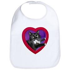Cat in Heart Bib