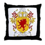 ten Houten Coat of Arms Throw Pillow