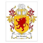 ten Houten Coat of Arms Small Poster
