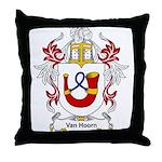 Van Hoorn Coat of Arms Throw Pillow