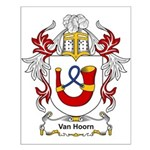 Van Hoorn Coat of Arms Small Poster