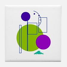 Circle Art Tile Coaster