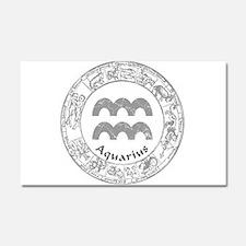 Aquarius Zodiac sign Car Magnet 20 x 12