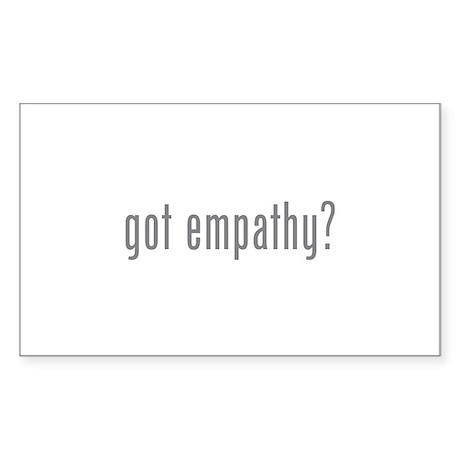 Got empathy? Sticker (Rectangle 10 pk)